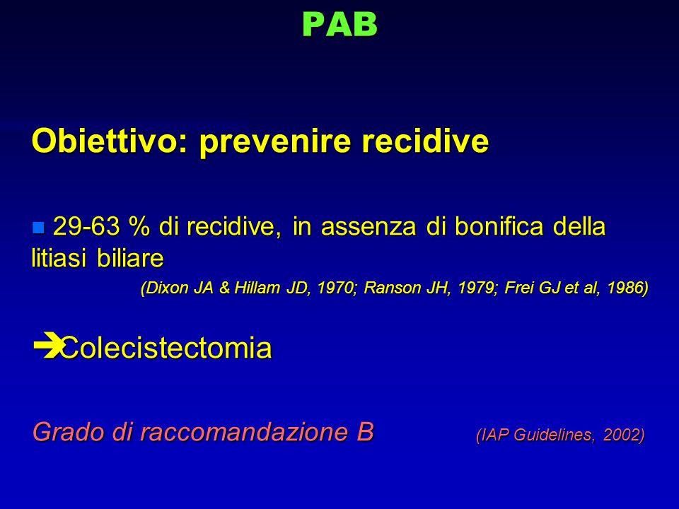 Obiettivo: prevenire recidive