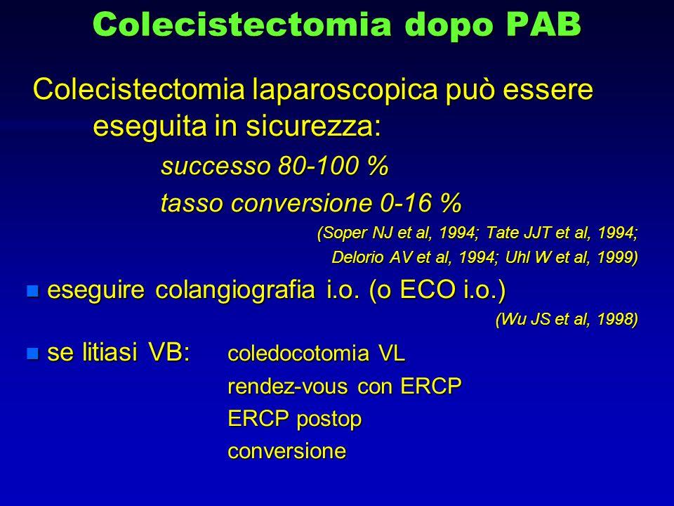Colecistectomia dopo PAB