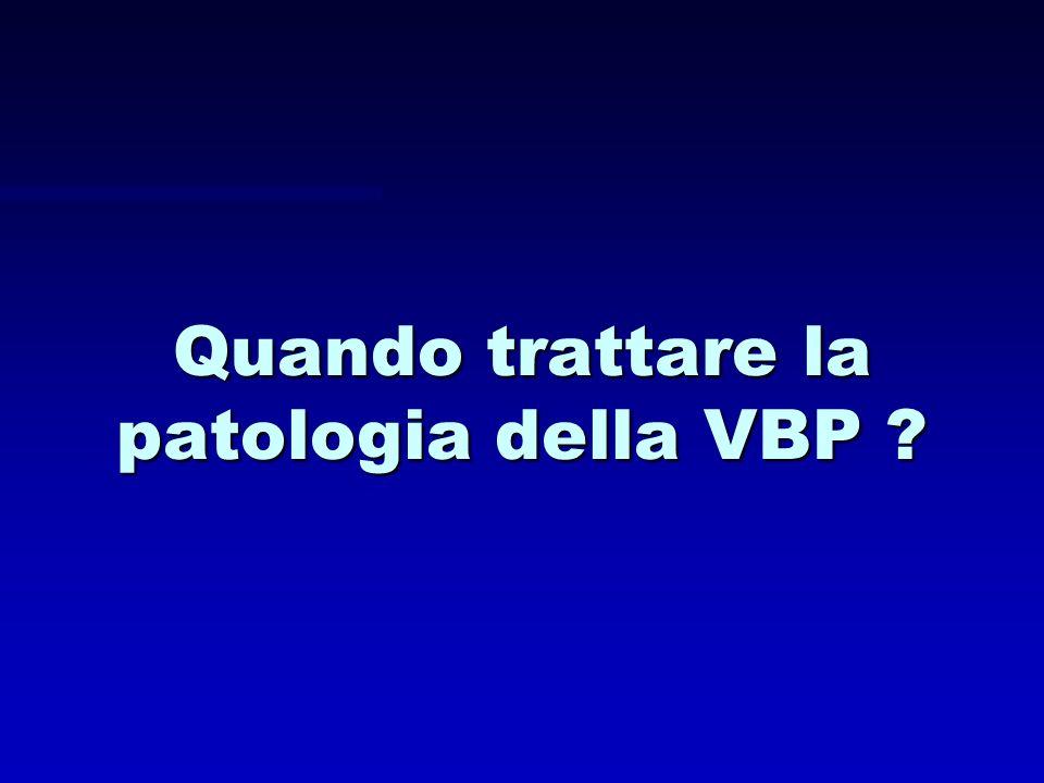 Quando trattare la patologia della VBP