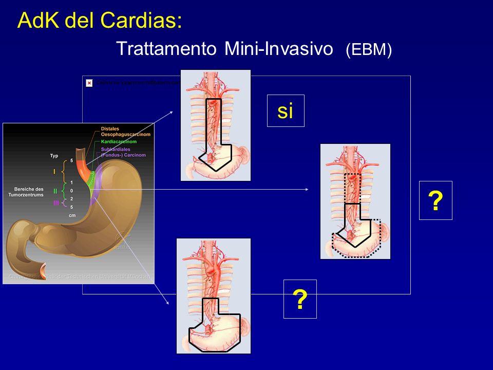 AdK del Cardias: Trattamento Mini-Invasivo (EBM) si