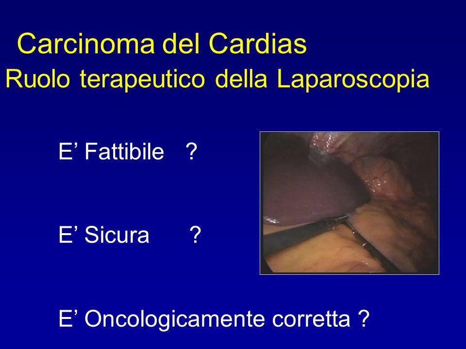 Carcinoma del Cardias Ruolo terapeutico della Laparoscopia