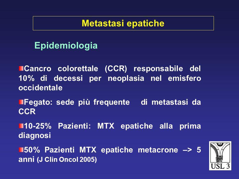 Metastasi epatiche Epidemiologia