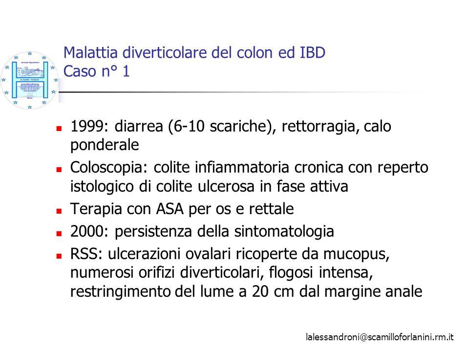 Malattia diverticolare del colon ed IBD Caso n° 1