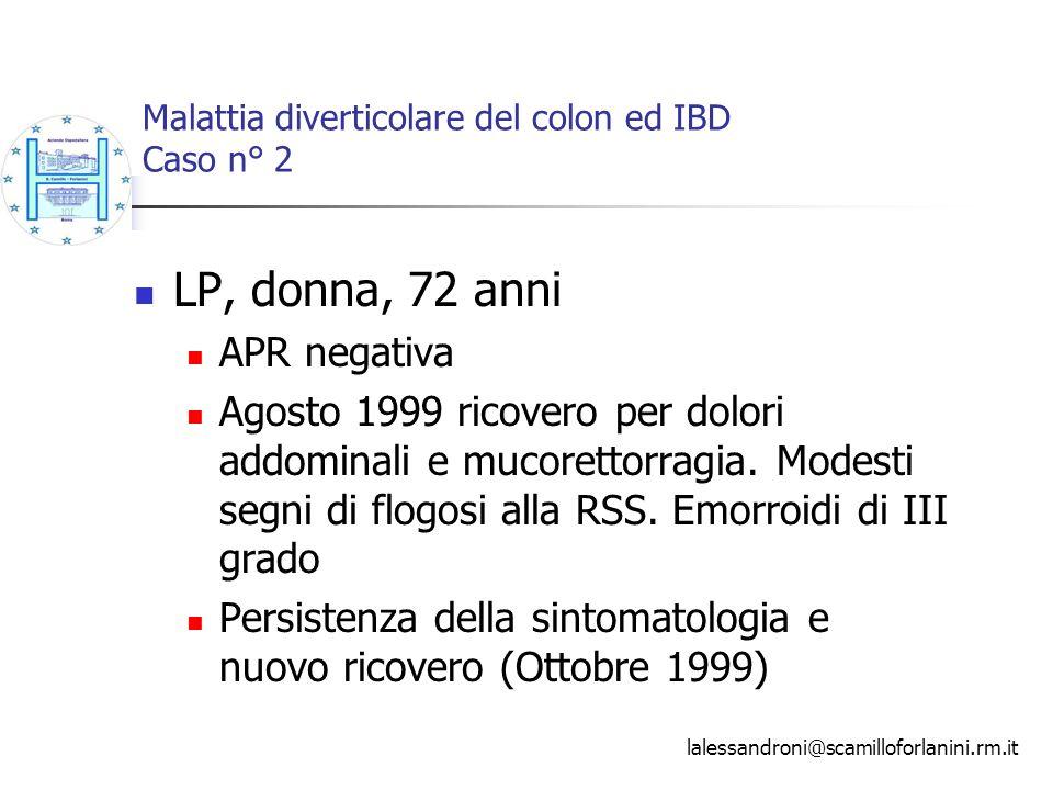 Malattia diverticolare del colon ed IBD Caso n° 2