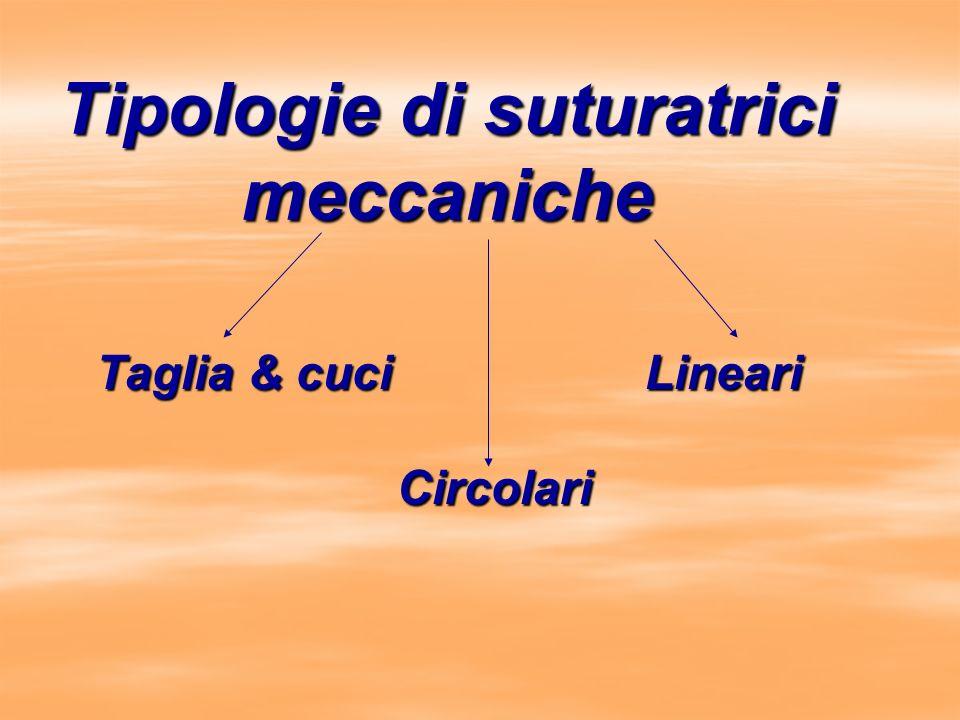 Tipologie di suturatrici meccaniche