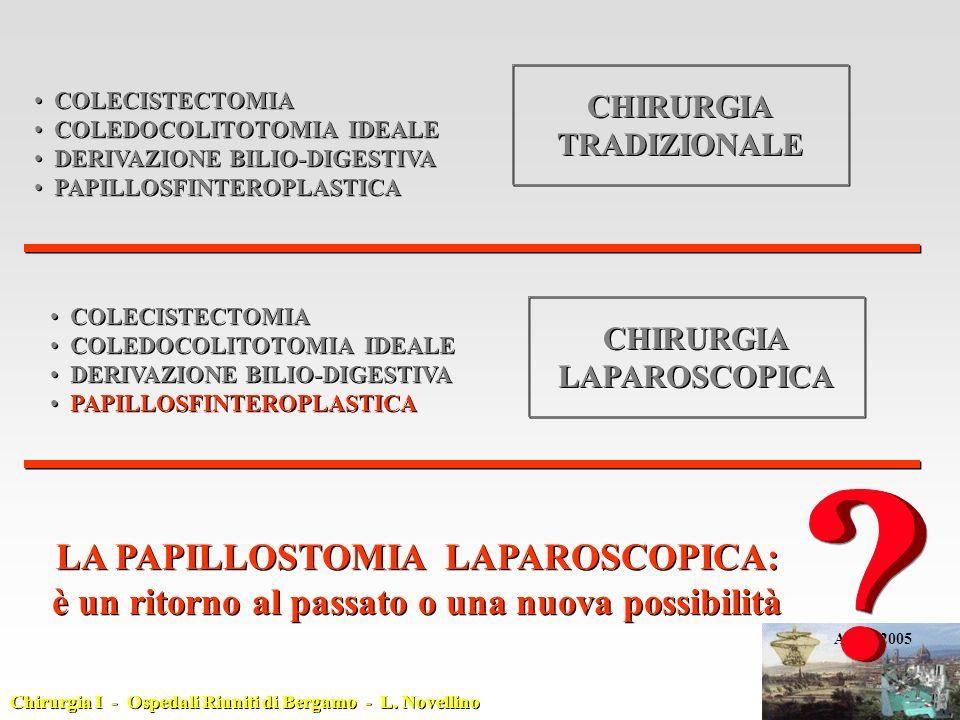 LA PAPILLOSTOMIA LAPAROSCOPICA: