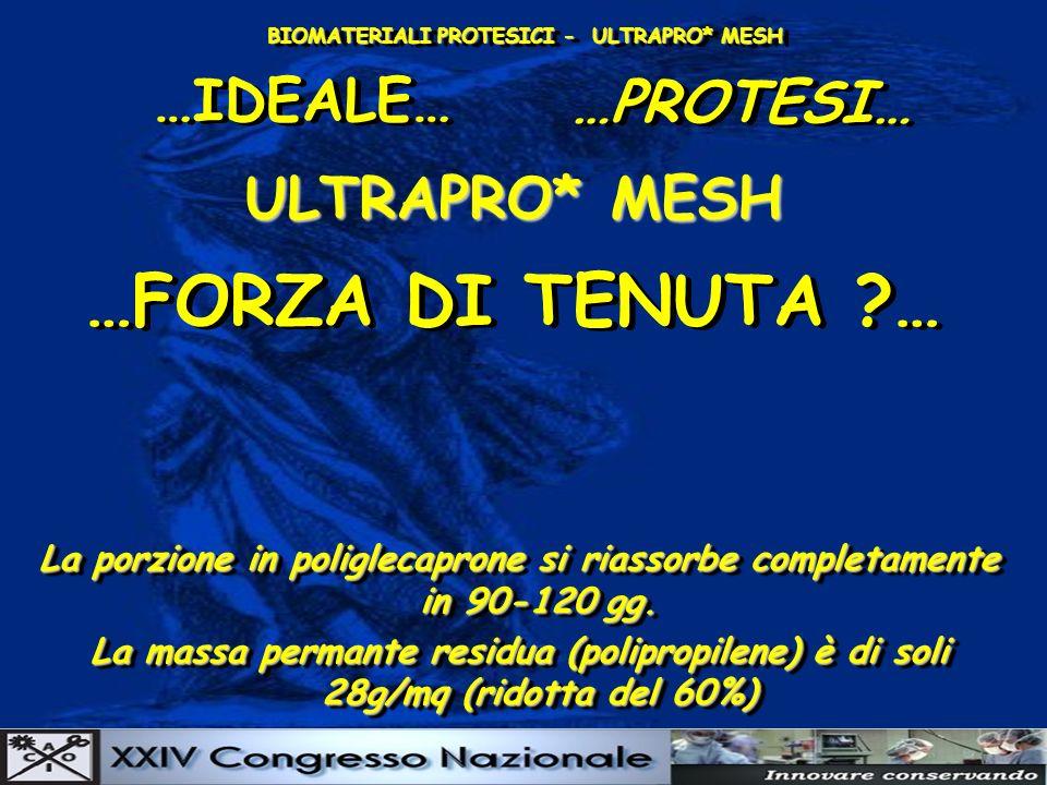 …FORZA DI TENUTA … …IDEALE… …PROTESI… ULTRAPRO* MESH