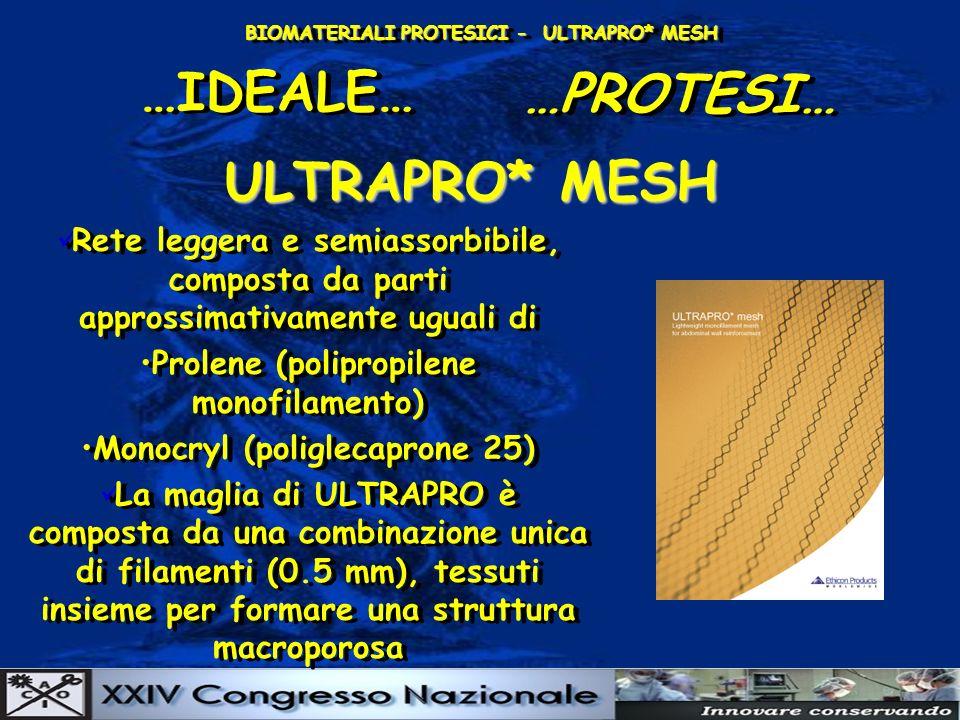 …IDEALE… …PROTESI… ULTRAPRO* MESH