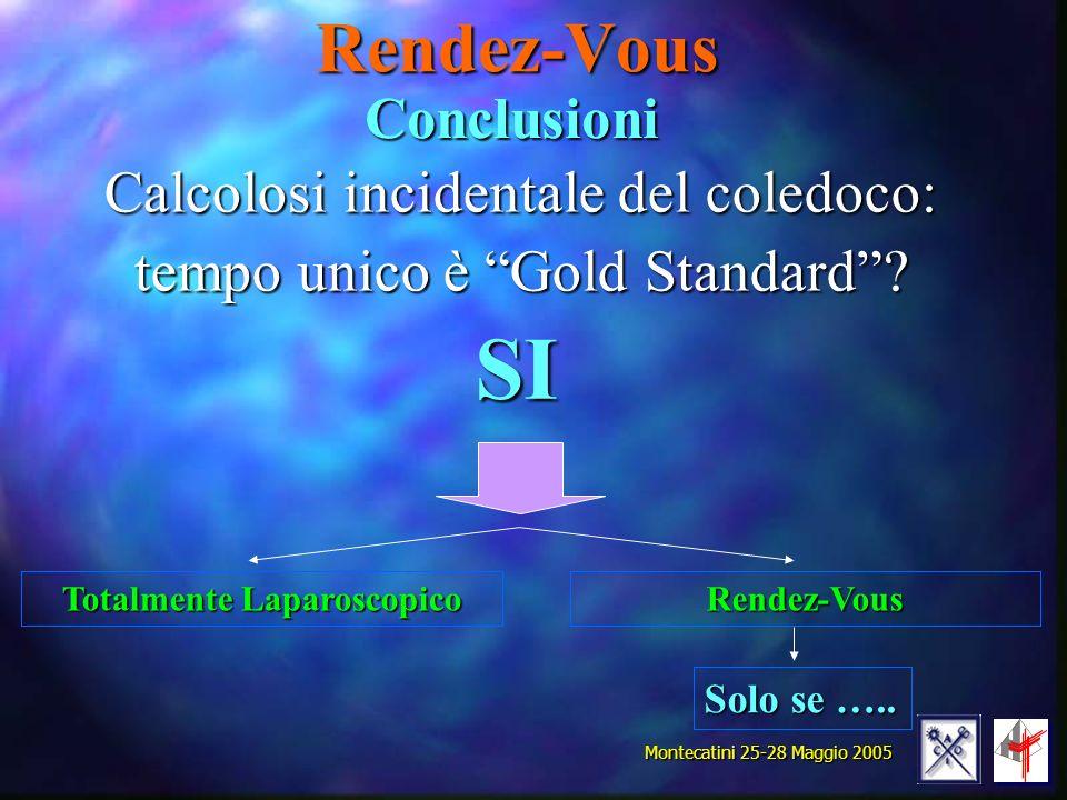Calcolosi incidentale del coledoco: tempo unico è Gold Standard