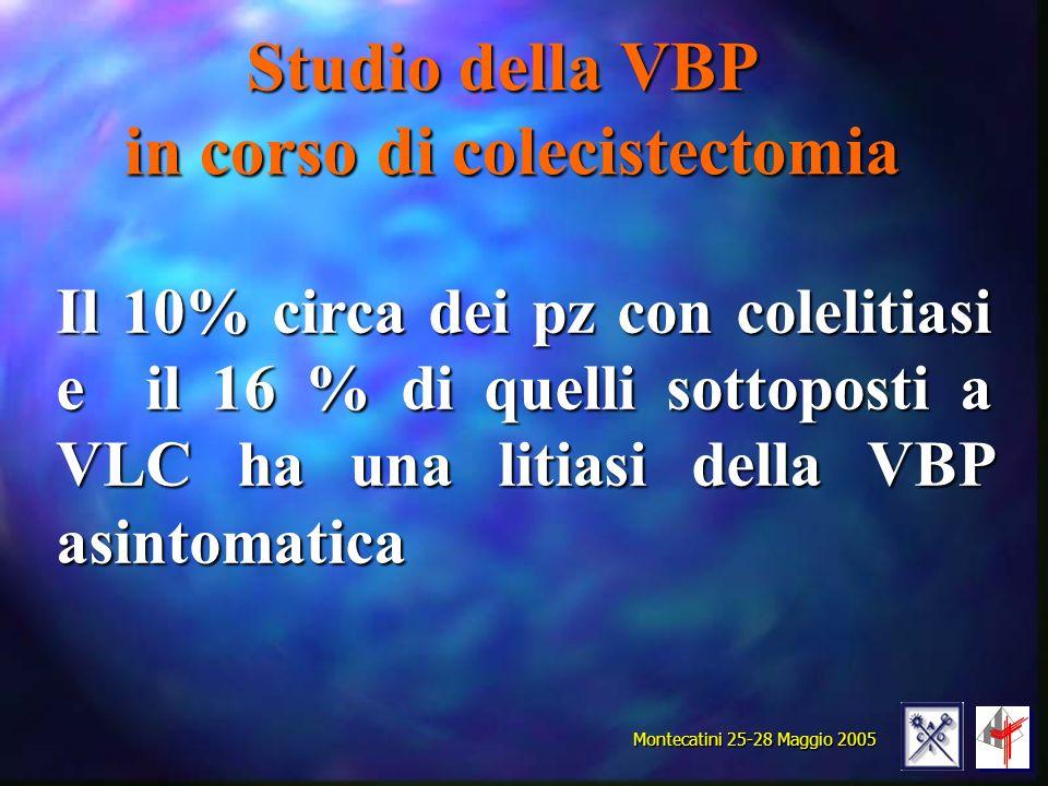 Studio della VBP in corso di colecistectomia
