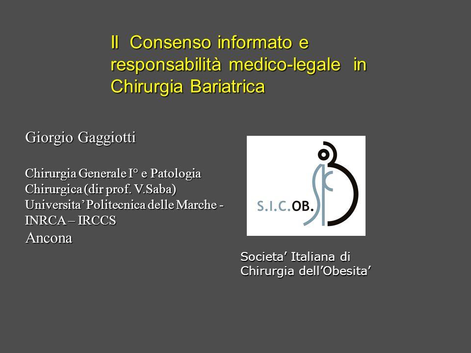 Il Consenso informato e responsabilità medico-legale in
