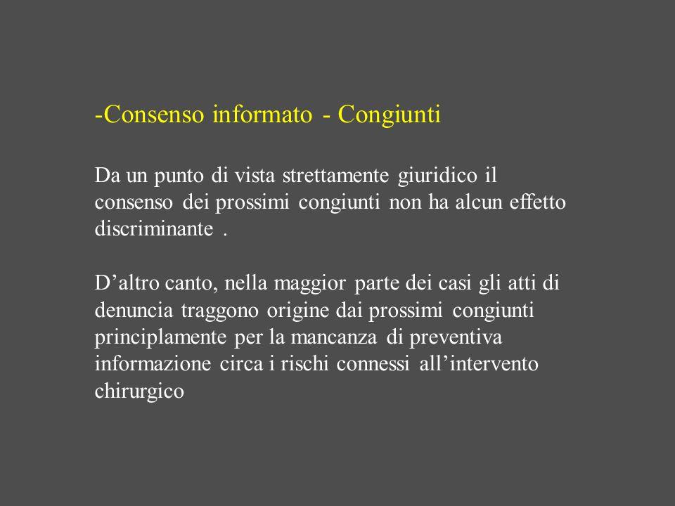 Consenso informato - Congiunti