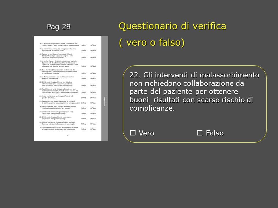 Questionario di verifica ( vero o falso)