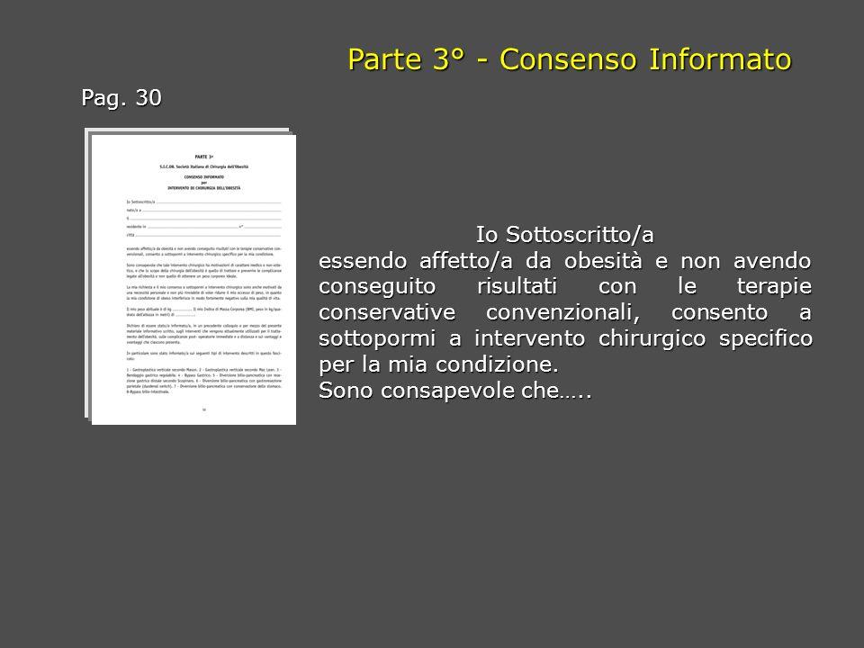 Parte 3° - Consenso Informato