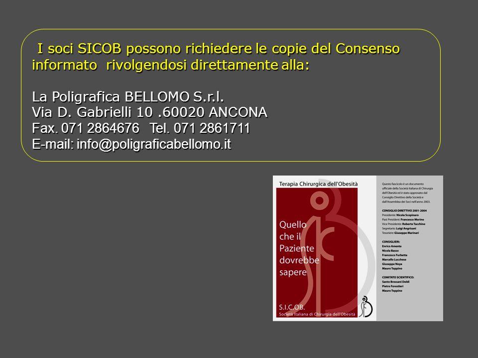 I soci SICOB possono richiedere le copie del Consenso informato rivolgendosi direttamente alla: