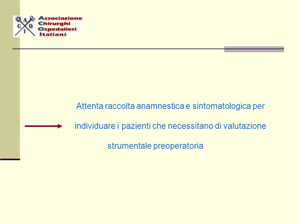 Attenta raccolta anamnestica e sintomatologica per