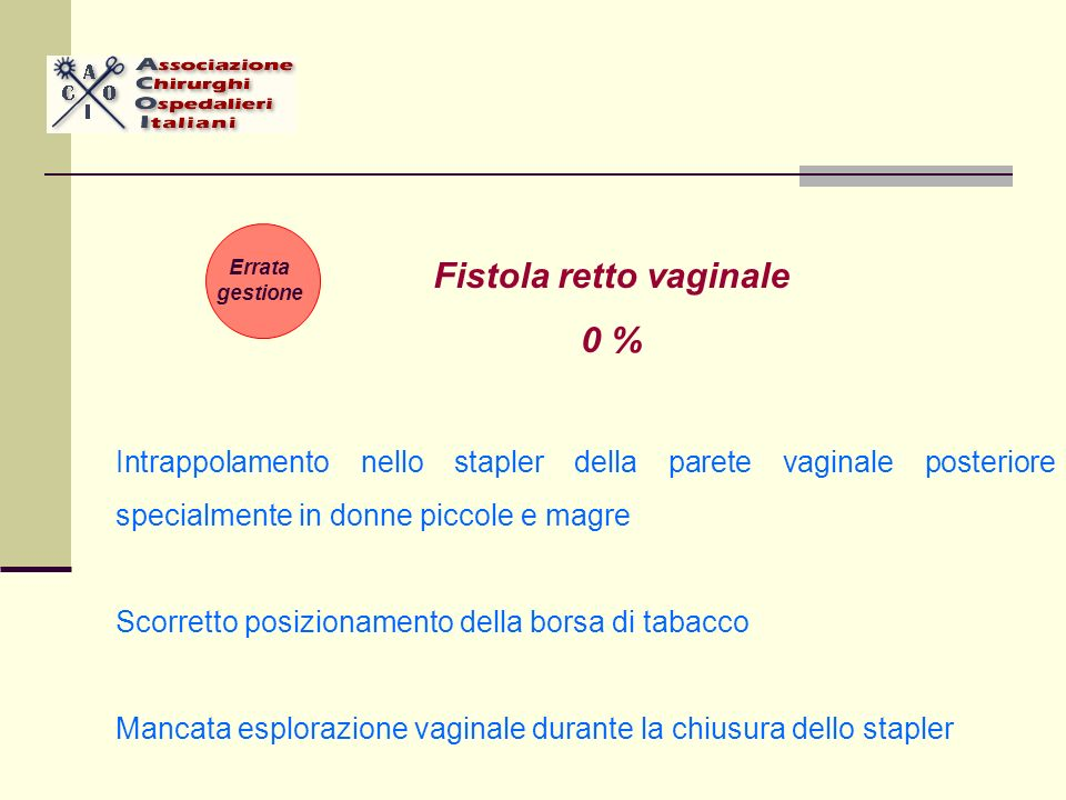 Fistola retto vaginale