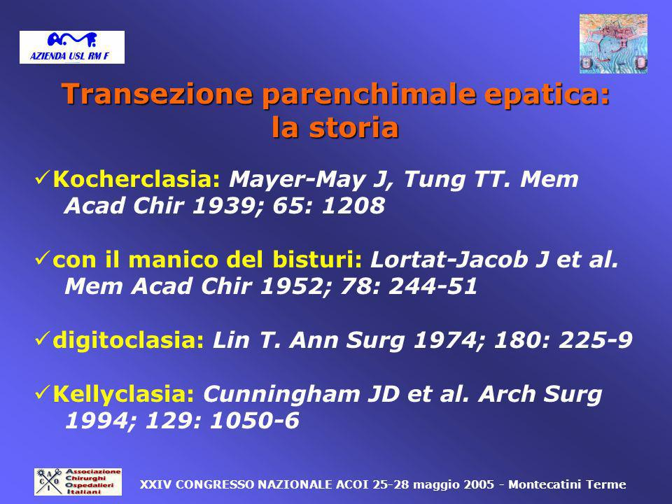 Transezione parenchimale epatica:
