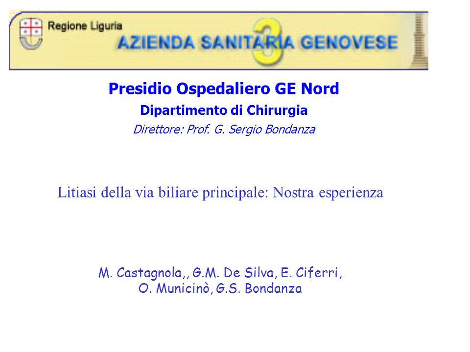 Presidio Ospedaliero GE Nord Dipartimento di Chirurgia