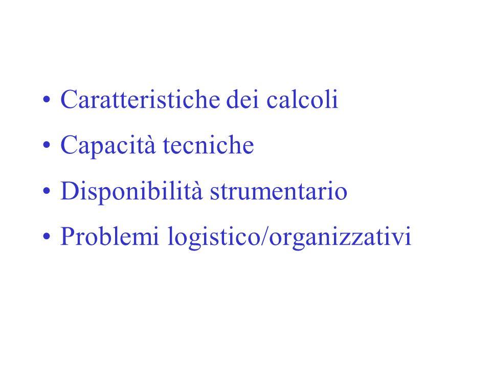 Caratteristiche dei calcoli