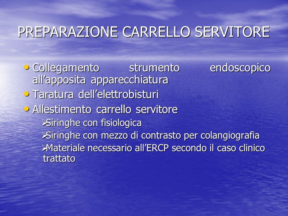 PREPARAZIONE CARRELLO SERVITORE