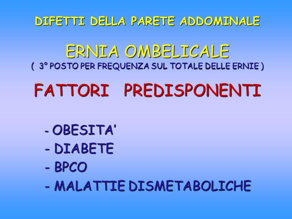OBESITA' DIABETE BPCO MALATTIE DISMETABOLICHE