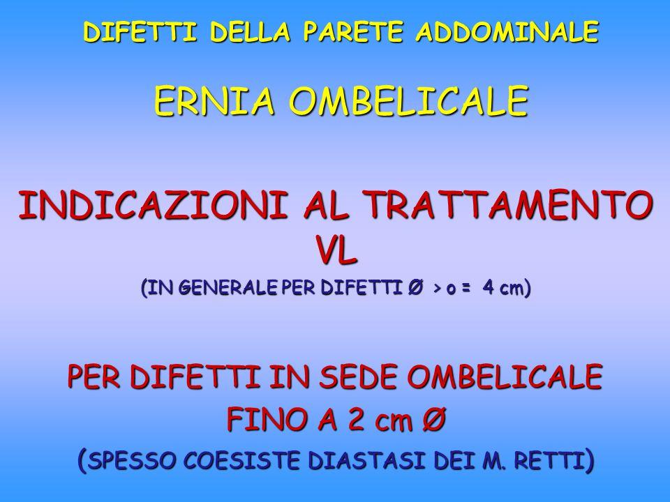 DIFETTI DELLA PARETE ADDOMINALE ERNIA OMBELICALE