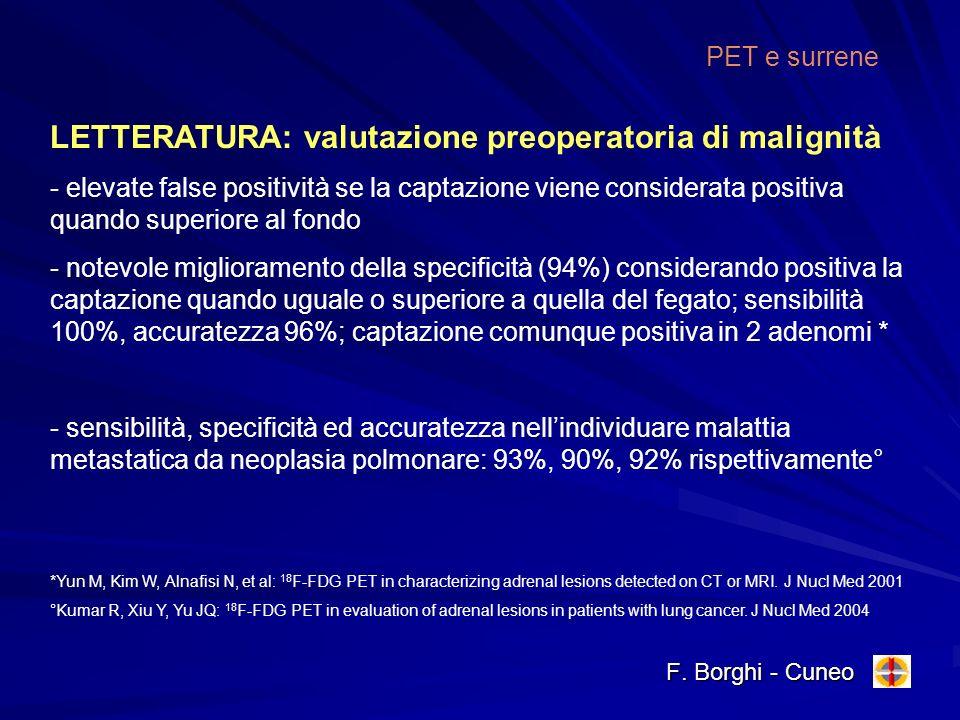 LETTERATURA: valutazione preoperatoria di malignità