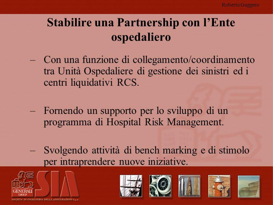 Stabilire una Partnership con l'Ente ospedaliero
