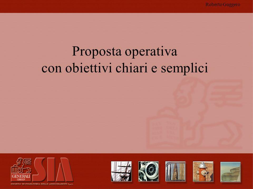 Proposta operativa con obiettivi chiari e semplici