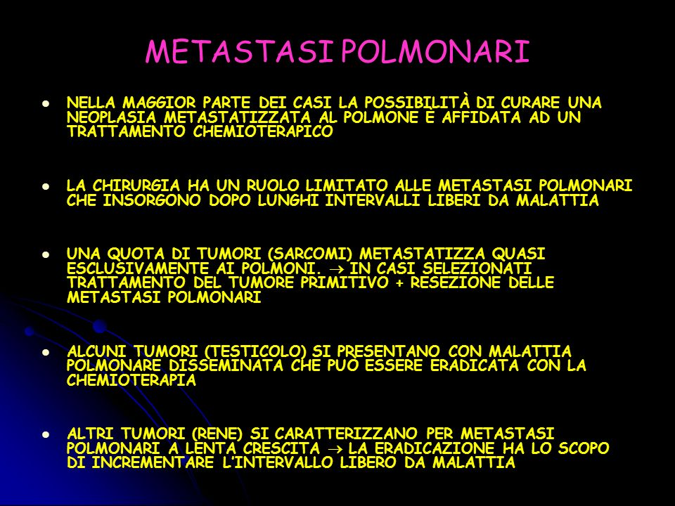 METASTASI POLMONARI