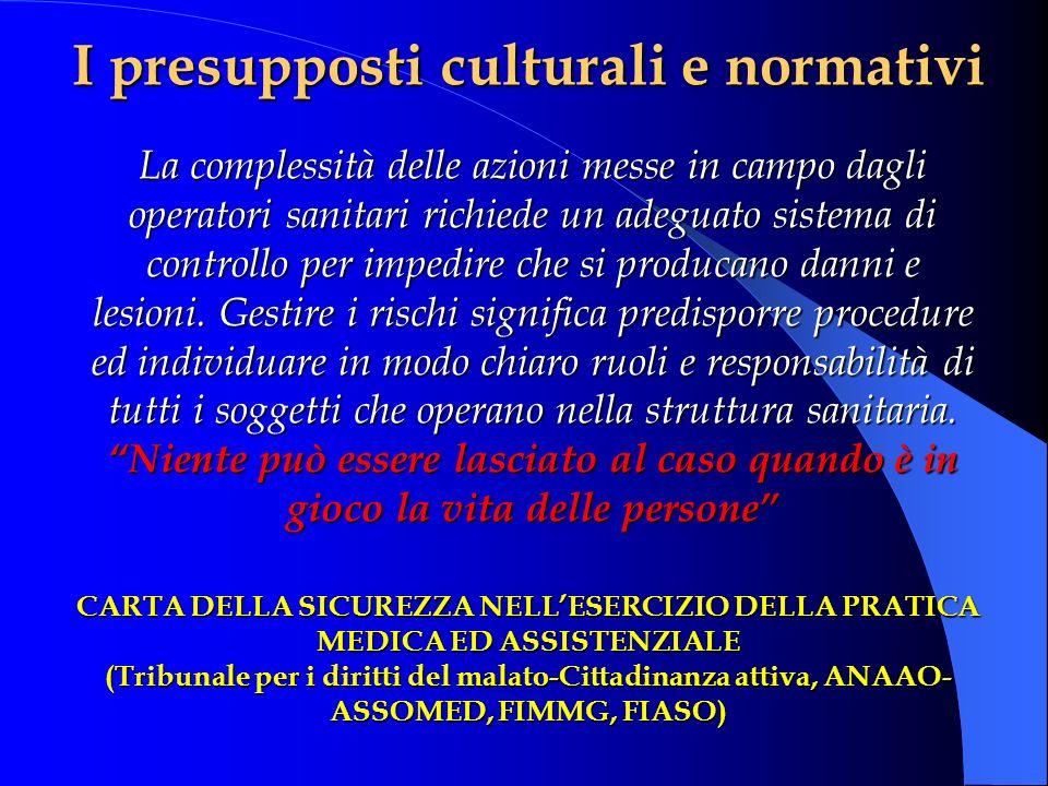 I presupposti culturali e normativi