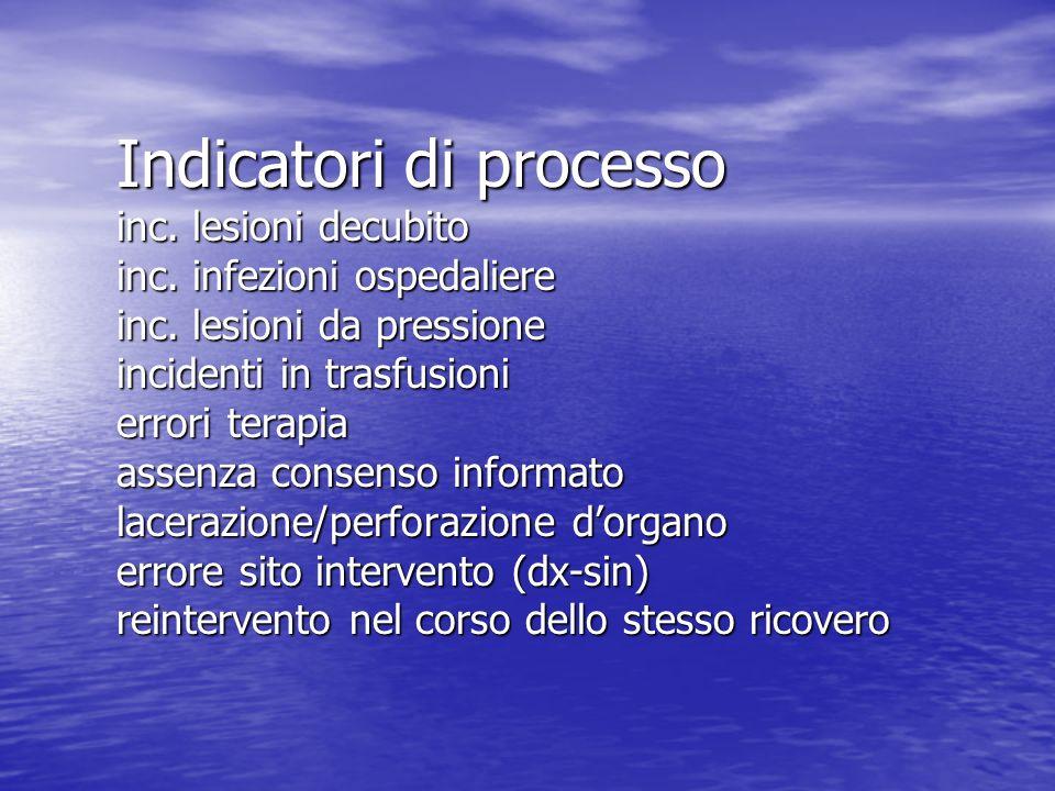 Indicatori di processo inc. lesioni decubito inc