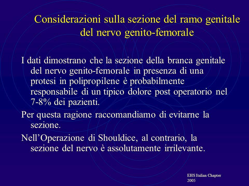 Considerazioni sulla sezione del ramo genitale del nervo genito-femorale