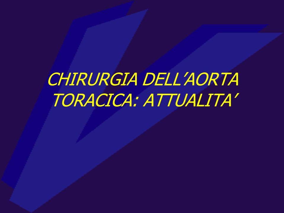 CHIRURGIA DELL'AORTA TORACICA: ATTUALITA'