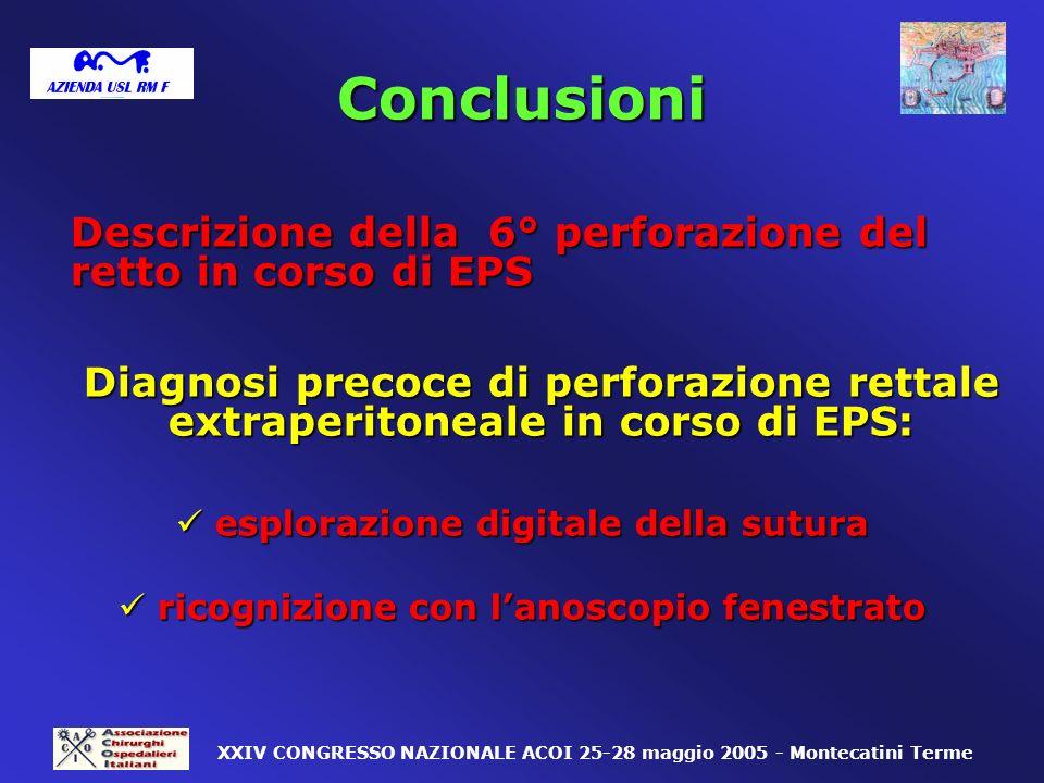 Conclusioni esplorazione digitale della sutura