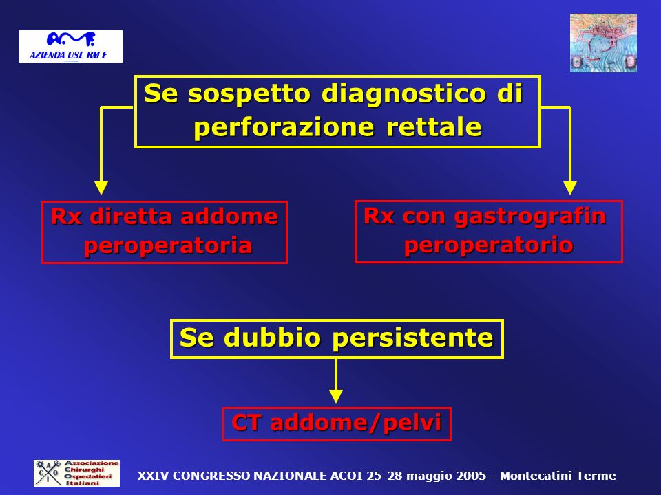 Se sospetto diagnostico di
