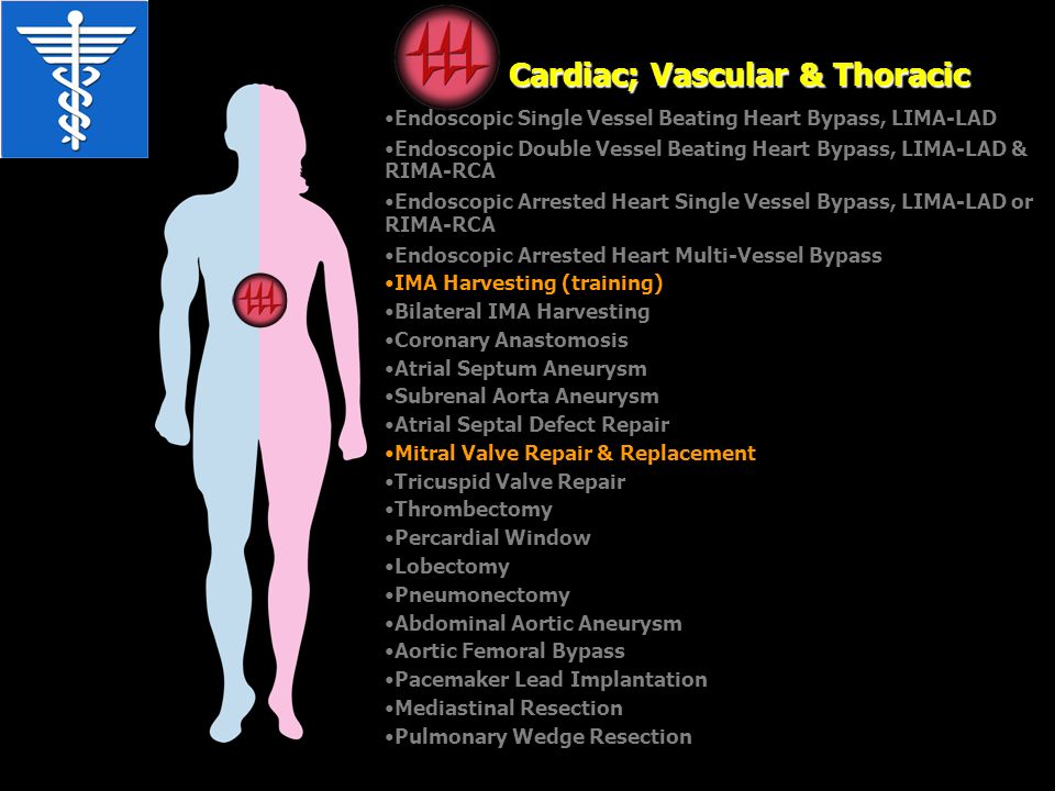 Cardiac; Vascular & Thoracic