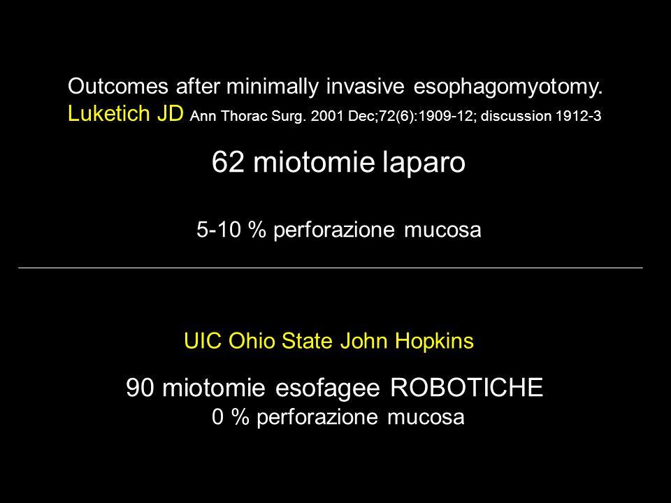 62 miotomie laparo 90 miotomie esofagee ROBOTICHE