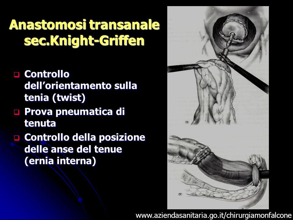 Anastomosi transanale sec.Knight-Griffen