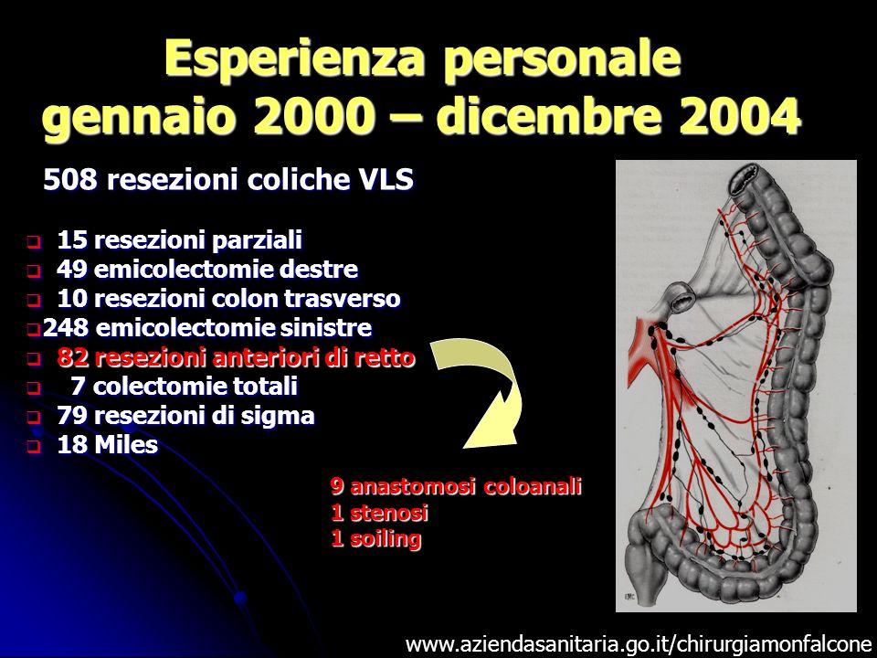 Esperienza personale gennaio 2000 – dicembre 2004