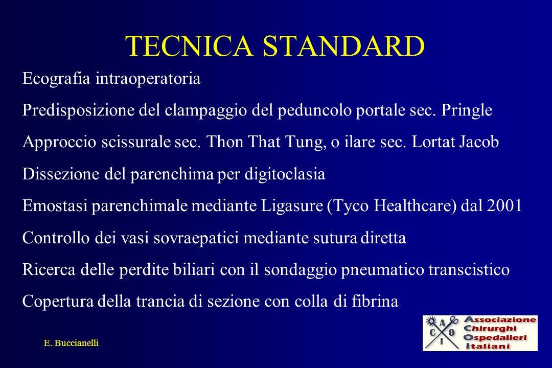 TECNICA STANDARD Ecografia intraoperatoria