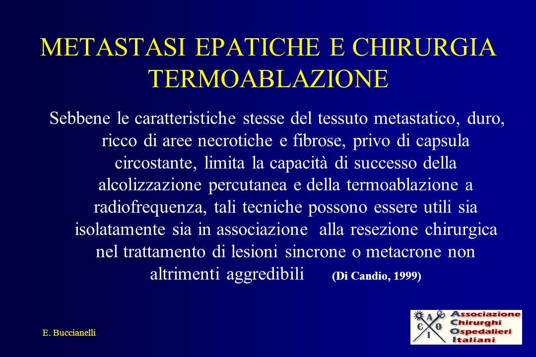 METASTASI EPATICHE E CHIRURGIA TERMOABLAZIONE