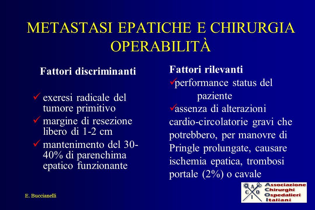 METASTASI EPATICHE E CHIRURGIA OPERABILITÀ