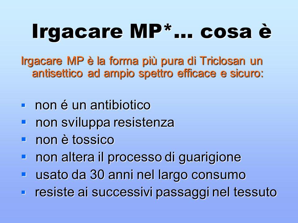 Irgacare MP*… cosa è non sviluppa resistenza non è tossico