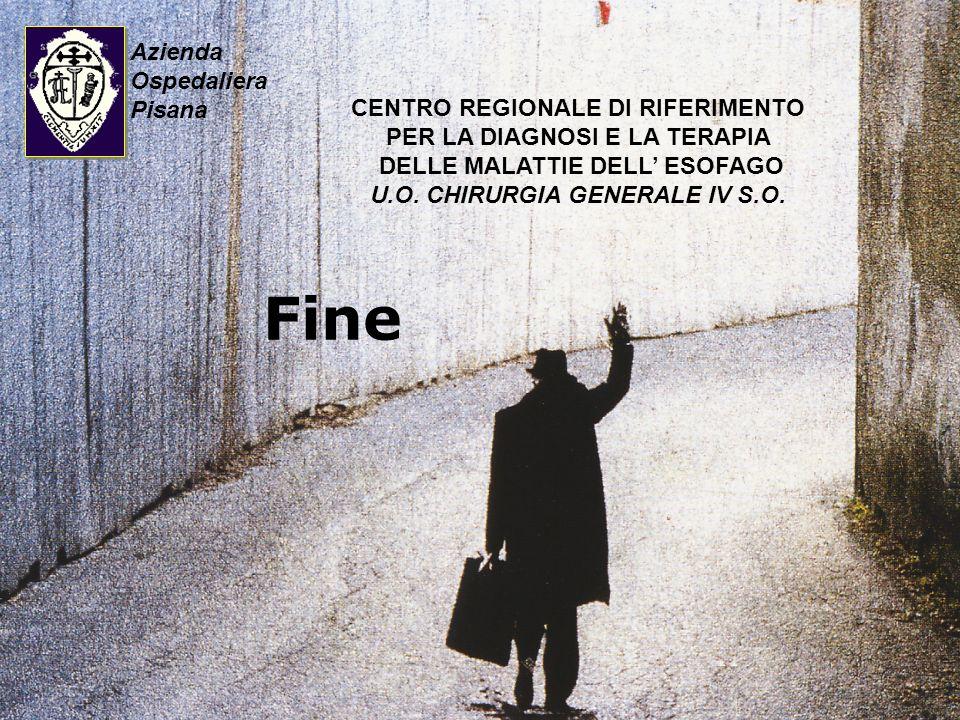 Fine Azienda Ospedaliera Pisana CENTRO REGIONALE DI RIFERIMENTO