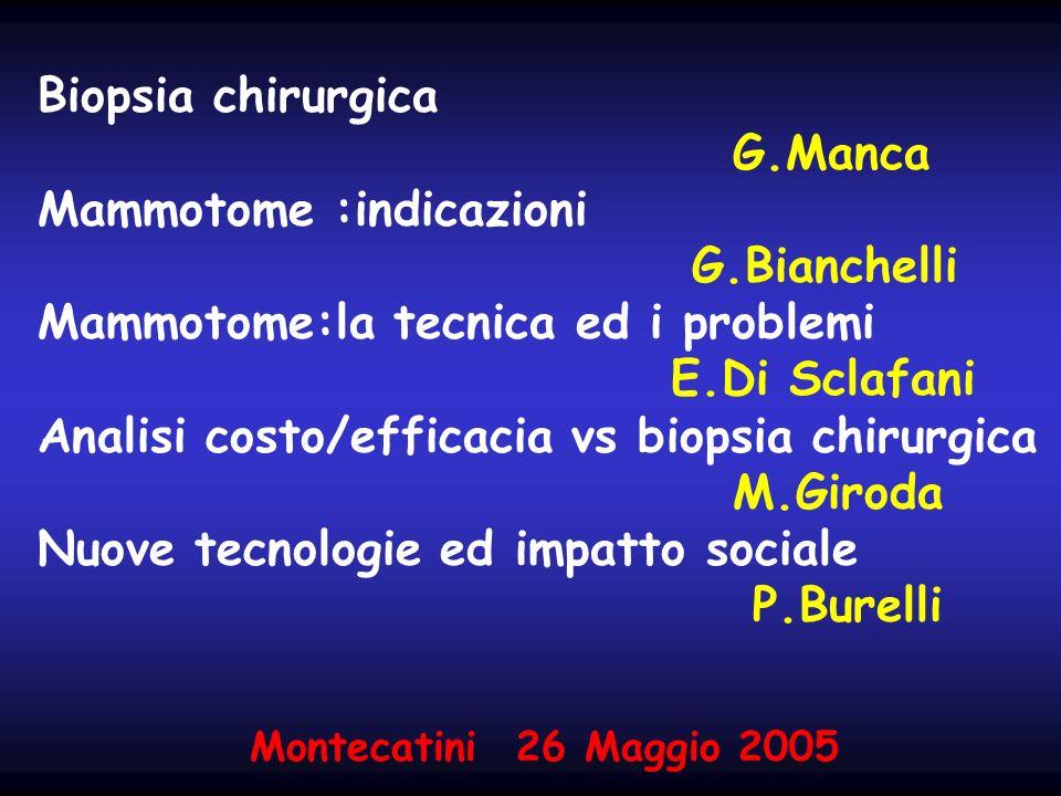 Biopsia chirurgica G. Manca Mammotome :indicazioni G