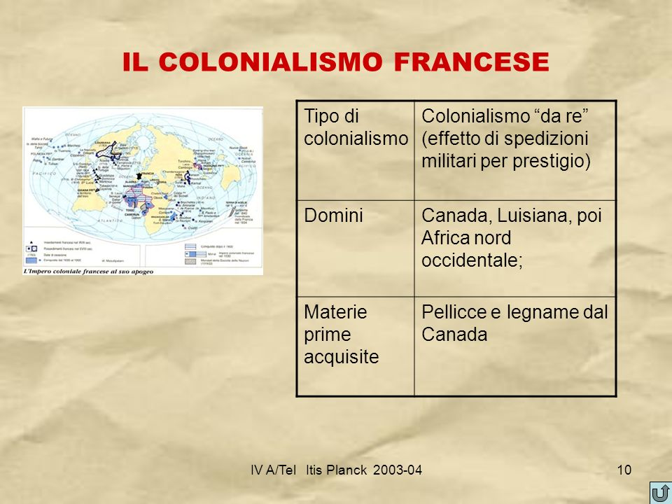 IL COLONIALISMO FRANCESE