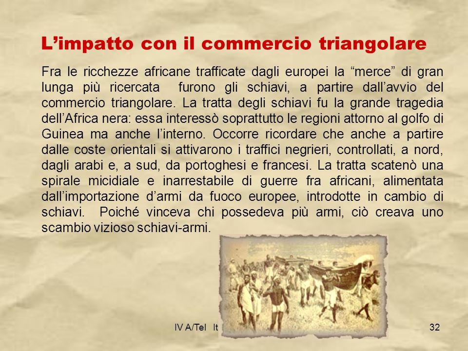 L'impatto con il commercio triangolare