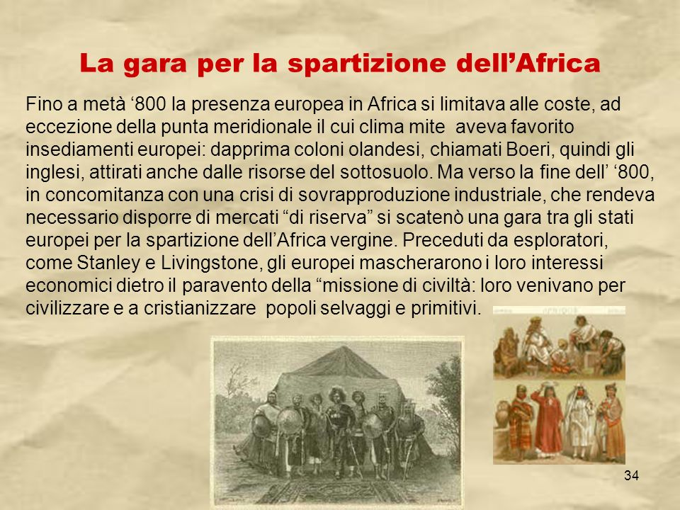 La gara per la spartizione dell'Africa